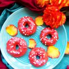 Rose Glazed Cake Donuts
