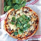 Chicken, Mushrooms and Blue Cheese Pizza