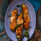 Corn and Ricotta Stuffed Zucchini