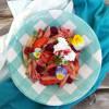 Peach Raspberry Basil Pasta