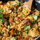 One-Pot Chicken Mushroom Orzo