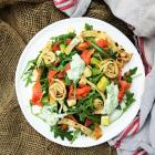 Smoked Salmon Avocado Crepes Salad