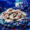 Candy Cane Crescent Cookies