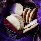 Lavender Chocolate Shortbread Cookies