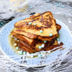 Maple Brandy Eggnog French Toasts