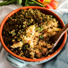 Trout Broccoli Gremolata Pasta Bake