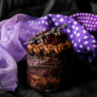 Chocolate Lavender Blueberry Mini Layer Cakes