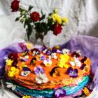Lemon Rainbow Crepe Cake