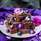 Blueberry Lavender Nanaimo Bars