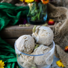Cardamom Coffee Halva Ice Cream