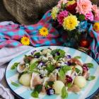 Melon Prosciutto Blue Cheese Salad