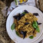 Chanterelle Walnut Basil Pesto Pasta