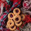 Cheese Lingonberry Jam Linzer Cookies