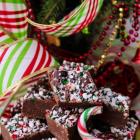 Chocolate Kahlua Peppermint Fudge