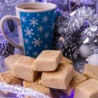 White Chocolate Eggnog Fudge