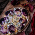 Beetroot Brie Blue Cheese Naan Pizza