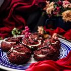 Red Velvet Profiteroles