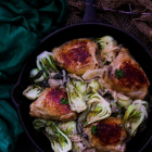 Roasted Chicken with Bok Choy