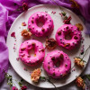 Strawberry Rose Cake Donuts and a Virtual Baby Shower