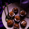 White Chocolate Lavender Profiteroles