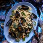 Creamy Mussel Basil Pasta