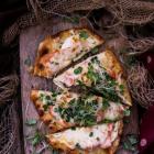 Smoked Salmon Naan Pizza
