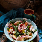Peach Prosciutto Mozzarella Salad