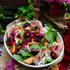 Cherry Chicken Prosciutto Salad