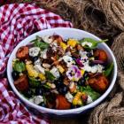 Corn Blueberry Sausage Salad