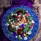 Plum Chicken Hazelnut Salad