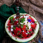 Watermelon Feta Pumpkin Seeds Salad