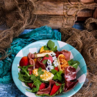 Watermelon Peach Halloumi Salad