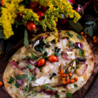 Apple Pancetta Naan Pizza