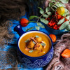 Butternut Squash Soup with Chickpea Gnocchi