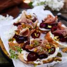 Cherry Prosciutto Crostini