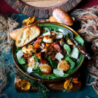 Chanterelle Seared Scallop Salad