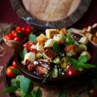 Tomato Prosciutto Feta Salad