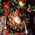 Apple Cranberry Walnut Crumble