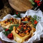 Chanterelle Chicken Crepes