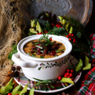 Christmas Chestnut Sausage Soup