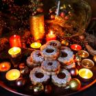 Dulce De Leche Hazelnut Linzer Cookies