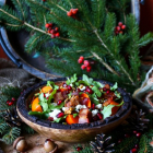 Persimmon Bacon Goat Cheese Salad