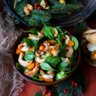 Persimmon Avocado Shrimp Salad