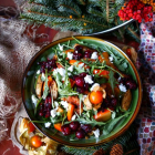 Persimmon Cranberry Chicken Salad