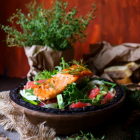 Pan-Seared Salmon Grapefruit Salad