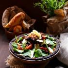 Warm Mushroom Ham Salad