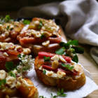Rhubarb Honey Cardamom Crostini