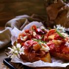 Rhubarb Strawberry Crostini