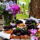 Whipped Feta Blueberry Crostini