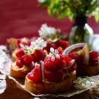 Raspberry Brie Crostini